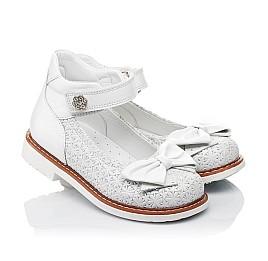 Детские туфли Woopy Orthopedic белые для девочек натуральная кожа размер 18-33 (3496) Фото 1
