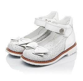 Детские туфли Woopy Orthopedic белые для девочек натуральная кожа размер 18-33 (3496) Фото 3