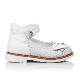 Детские туфли Woopy Orthopedic белые для девочек натуральная кожа размер 18-23 (3496) Фото 4