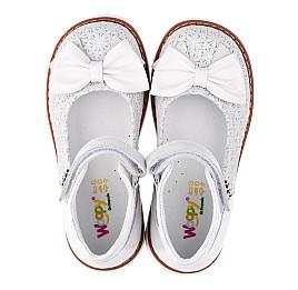 Детские туфли Woopy Orthopedic белые для девочек натуральная кожа размер 18-23 (3496) Фото 5