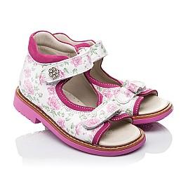 Детские ортопедические босоножки Woopy Orthopedic розовые для девочек натуральная кожа размер - (3497) Фото 1