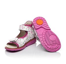 Детские ортопедические босоножки Woopy Orthopedic розовые для девочек натуральная кожа размер - (3497) Фото 2