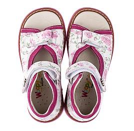 Детские ортопедические босоножки Woopy Orthopedic розовые для девочек натуральная кожа размер - (3497) Фото 5