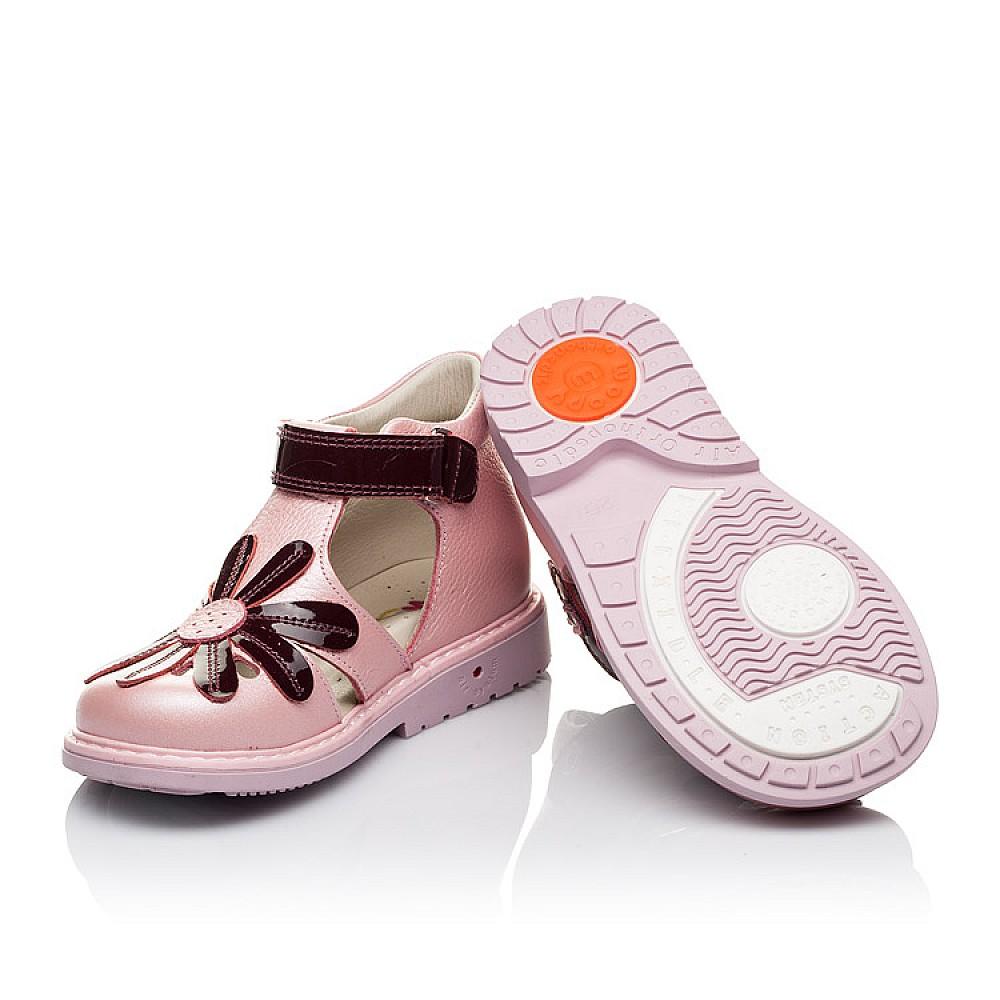 Детские закрытые ортопедические босоножки Woopy Orthopedic розовые для девочек натуральная кожа размер 20-30 (3502) Фото 2
