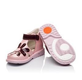 Детские закрытые ортопедические босоножки Woopy Orthopedic розовые для девочек натуральная кожа размер 21-21 (3502) Фото 2