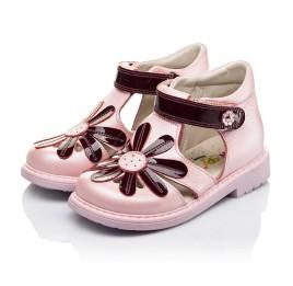 Детские закрытые ортопедические босоножки Woopy Orthopedic розовые для девочек натуральная кожа размер 21-21 (3502) Фото 3