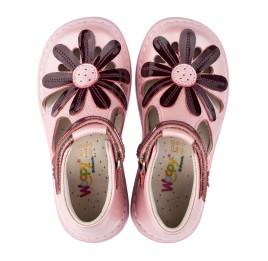Детские закрытые ортопедические босоножки Woopy Orthopedic розовые для девочек натуральная кожа размер - (3502) Фото 5