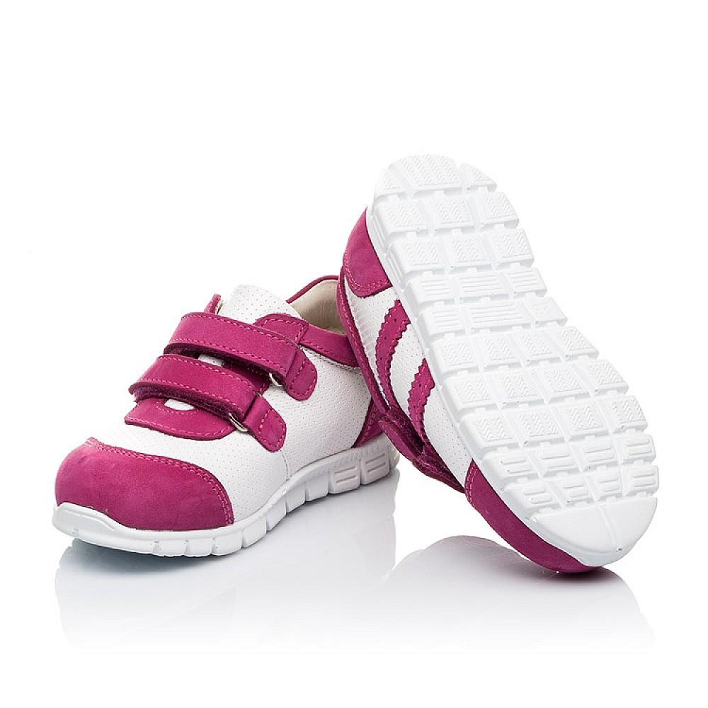 Детские кроссовки Woopy Orthopedic розовые для девочек натуральная кожа / натуральный нубук размер 18-25 (3503) Фото 2