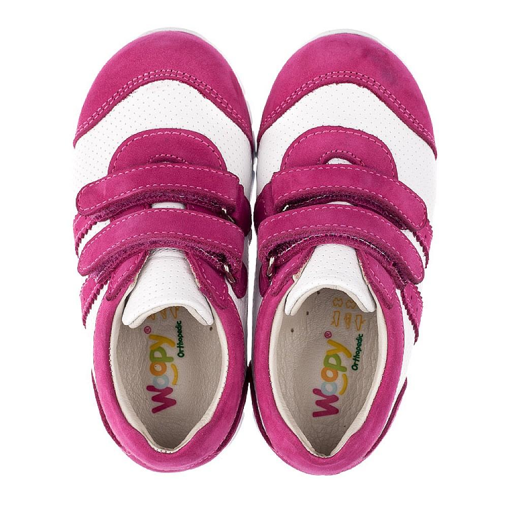 Детские кроссовки Woopy Orthopedic розовые для девочек натуральная кожа / натуральный нубук размер 18-25 (3503) Фото 5