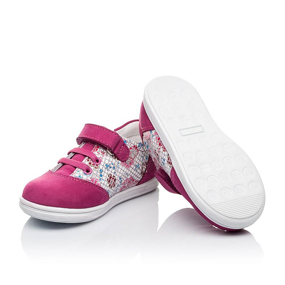 Детские кроссовки Woopy Orthopedic малиновые, разноцветные для девочек натуральный нубук размер 18-25 (3505) Фото 2