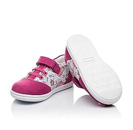 Детские кроссовки Woopy Orthopedic малиновые, разноцветные для девочек натуральный нубук размер 18-18 (3505) Фото 2