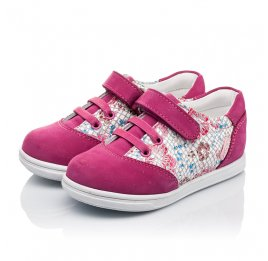Детские кроссовки Woopy Orthopedic малиновые, разноцветные для девочек натуральный нубук размер 18-18 (3505) Фото 3