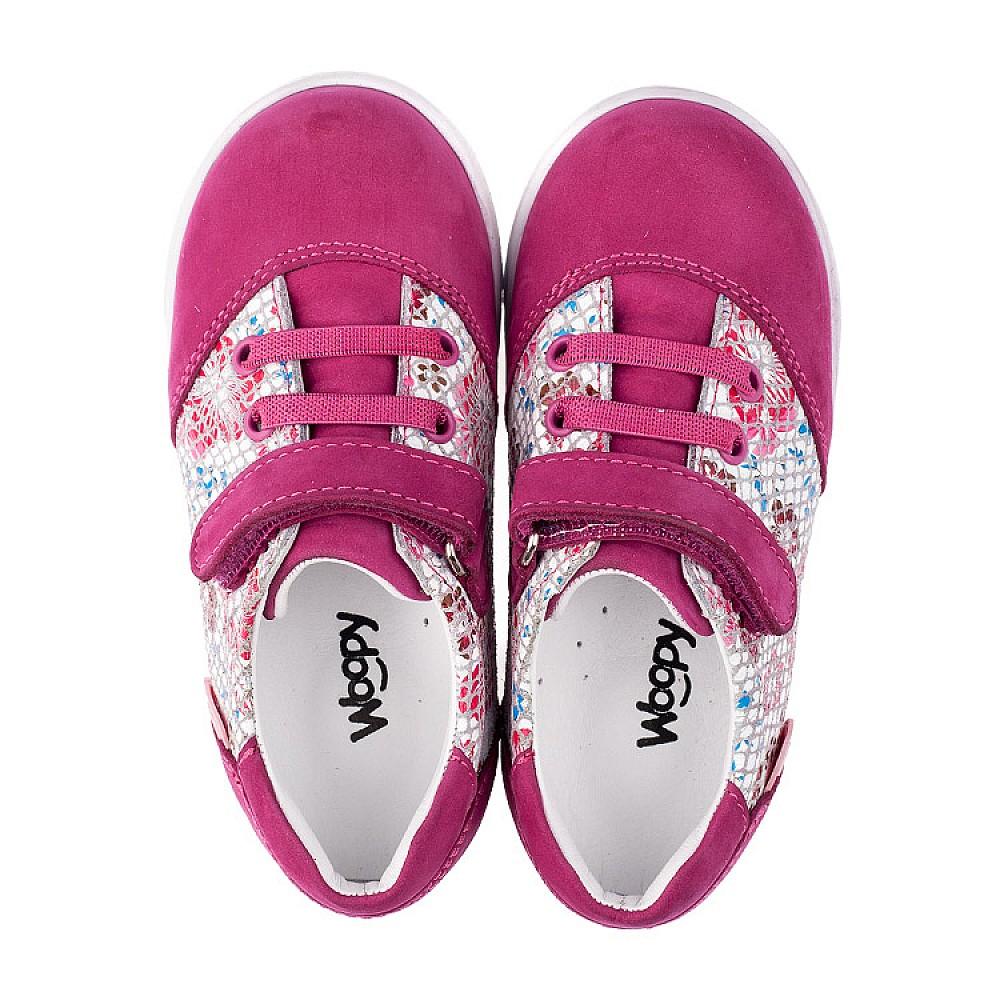 Детские кроссовки Woopy Orthopedic малиновые, разноцветные для девочек натуральный нубук размер 18-25 (3505) Фото 5