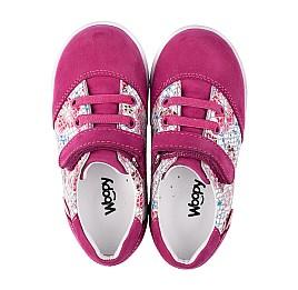 Детские кроссовки Woopy Orthopedic малиновые, разноцветные для девочек натуральный нубук размер 18-18 (3505) Фото 5