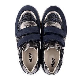 03b56235c0d752 Детские кросівки Woopy Orthopedic синие, серые для девочек натуральная  кожа/нубук размер - (