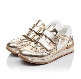 793db68288dc1e Детские кросівки Woopy Orthopedic золотые, белые для девочек натуральная  кожа размер - (3509)