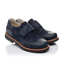 Детские туфли Woopy Orthopedic синие для мальчиков натуральная кожа/нубук размер - (3513) Фото 1