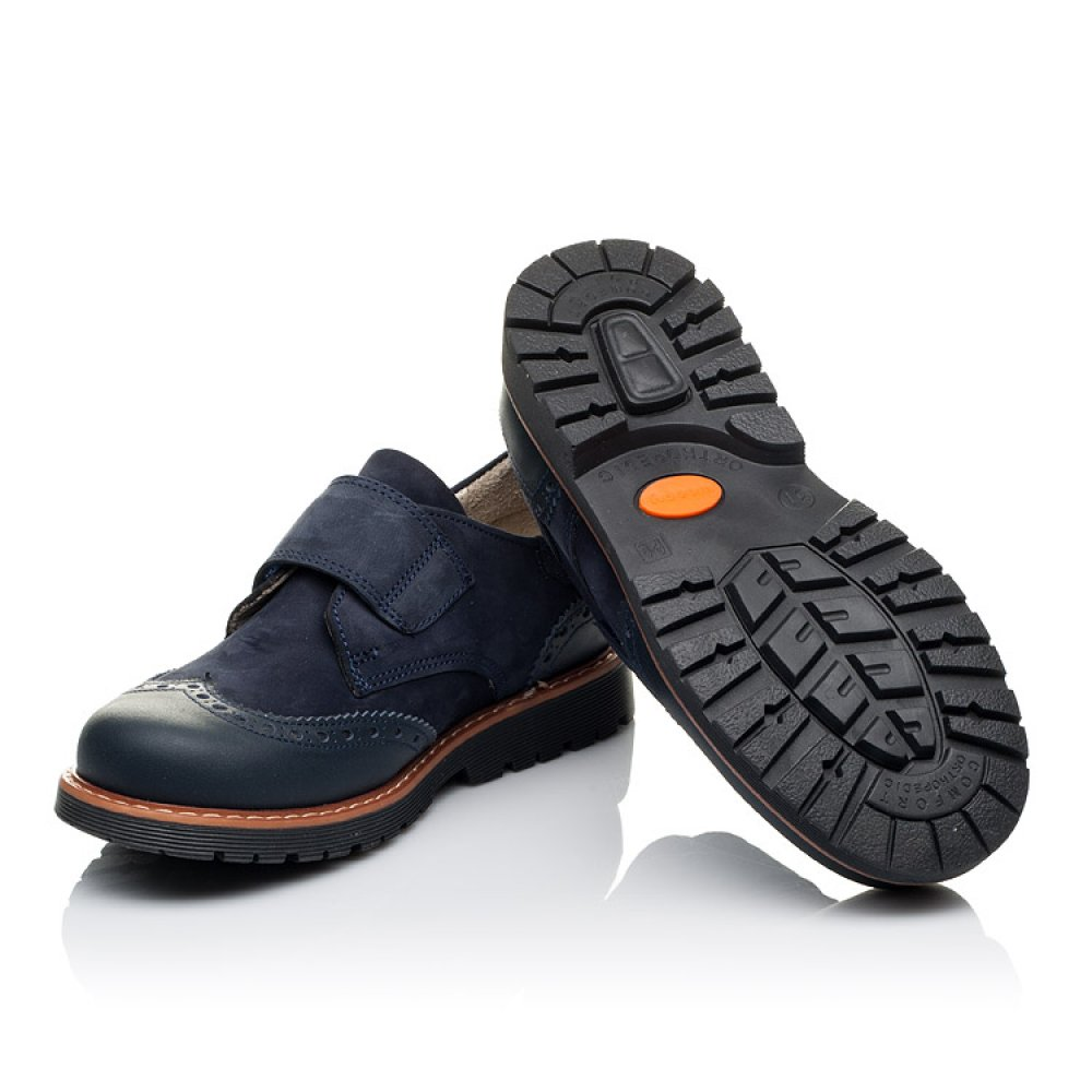 Детские туфли Woopy Orthopedic синие для мальчиков натуральная кожа/нубук размер 28-39 (3513) Фото 2
