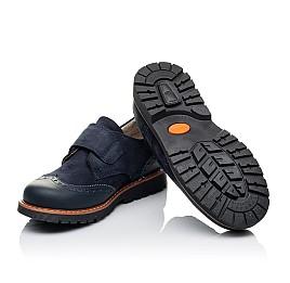 Детские туфли Woopy Orthopedic синие для мальчиков натуральная кожа/нубук размер - (3513) Фото 2