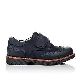 Детские туфли Woopy Orthopedic синие для мальчиков натуральная кожа/нубук размер - (3513) Фото 4