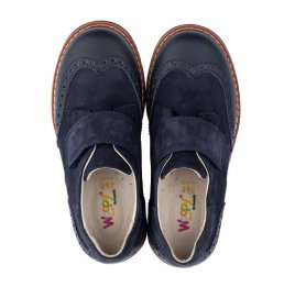 Детские туфли Woopy Orthopedic синие для мальчиков натуральная кожа/нубук размер - (3513) Фото 5