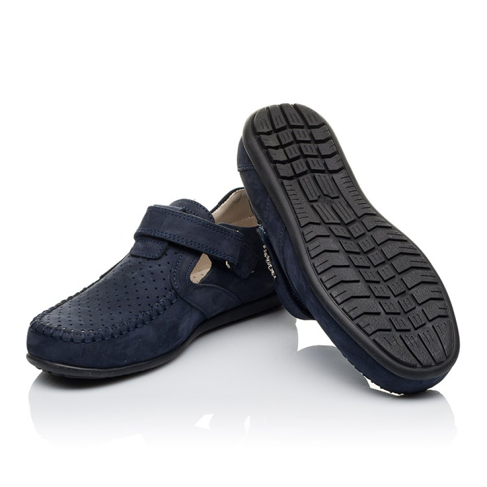 Детские туфли Woopy Orthopedic темно-синие для мальчиков натуральный нубук размер 31-37 (3516) Фото 2