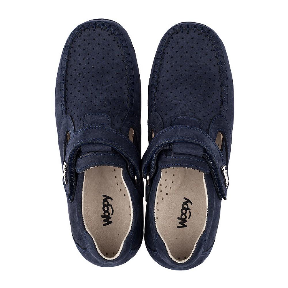 Детские туфли Woopy Orthopedic темно-синие для мальчиков натуральный нубук размер 31-37 (3516) Фото 5