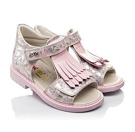 Детские ортопедические босоножки Woopy Orthopedic розовые для девочек натуральная кожа размер - (3519) Фото 1