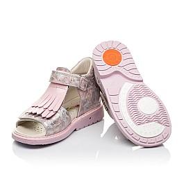 Детские ортопедические босоножки Woopy Orthopedic розовые для девочек натуральная кожа размер - (3519) Фото 2