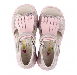 Детские ортопедические босоножки Woopy Orthopedic розовые для девочек натуральная кожа размер - (3519) Фото 5