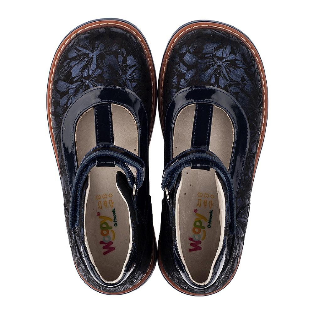 684881cb1 Детские туфли ортопедические Woopy Orthopedic темно-синие для девочек  натуральная лаковая кожа и нубук размер. Tap to expand