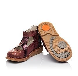 Детские туфли ортопедические Woopy Orthopedic бордовые для девочек натуральная кожа и нубук размер 26-29 (3523) Фото 2