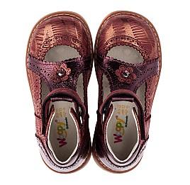 Детские туфли ортопедические Woopy Orthopedic бордовые для девочек натуральная кожа и нубук размер 26-29 (3523) Фото 5