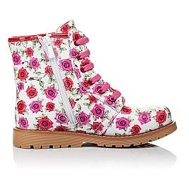 bbdbbd29775a5f Детские демісезонні черевики Woopy Orthopedic белые, малиновые для девочек  натуральная кожа размер - (3524