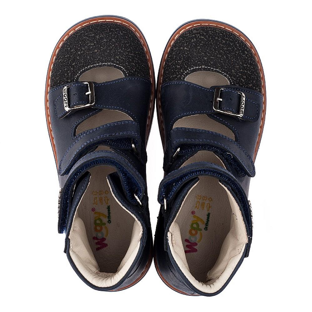 Детские ортопедические туфли (с высоким берцем) Woopy Orthopedic синие для мальчиков натуральный нубук размер 26-34 (3525) Фото 5
