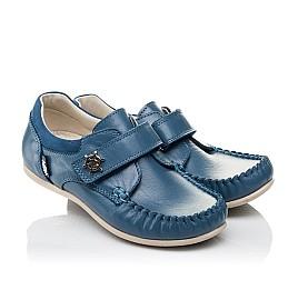 Детские мокасины Woopy Orthopedic синие для мальчиков натуральная кожа размер 26-29 (3527) Фото 1