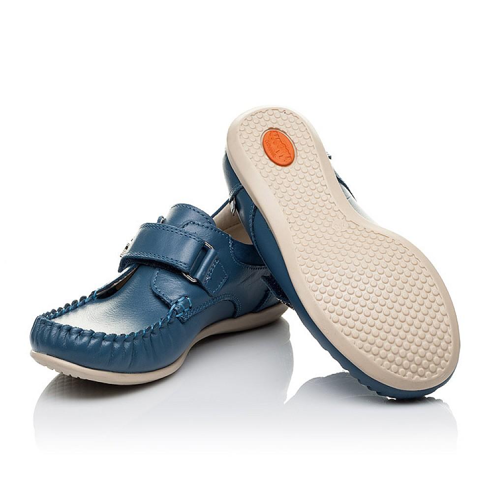 Детские мокасины Woopy Orthopedic синие для мальчиков натуральная кожа размер 24-30 (3527) Фото 2
