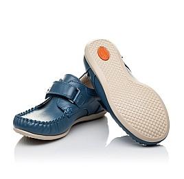Детские мокасины Woopy Orthopedic синие для мальчиков натуральная кожа размер 26-29 (3527) Фото 2