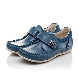Детские мокасини Woopy Orthopedic синие для мальчиков натуральная кожа размер 29-29 (3527) Фото 3