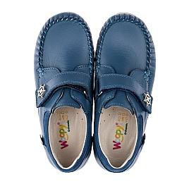 Детские мокасины Woopy Orthopedic синие для мальчиков натуральная кожа размер 26-29 (3527) Фото 5