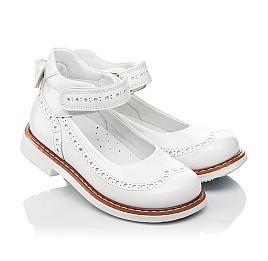 Детские туфли ортопедические Woopy Orthopedic белые для девочек натуральная лаковая кожа размер 32-34 (3528) Фото 1