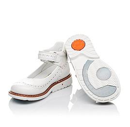 Детские туфли ортопедические Woopy Orthopedic белые для девочек натуральная лаковая кожа размер 32-34 (3528) Фото 2