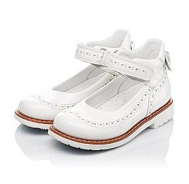Детские туфли ортопедические Woopy Orthopedic белые для девочек натуральная лаковая кожа размер 32-34 (3528) Фото 3