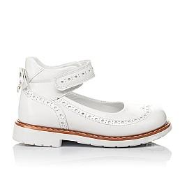 Детские туфли ортопедические Woopy Orthopedic белые для девочек натуральная лаковая кожа размер 32-34 (3528) Фото 4