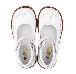 Детские туфли ортопедические Woopy Orthopedic белые для девочек натуральная лаковая кожа размер 32-34 (3528) Фото 5