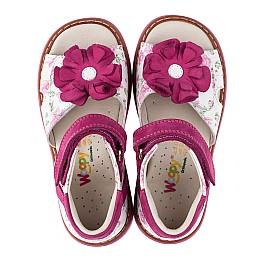 Детские ортопедические босоножки Woopy Orthopedic розовые для девочек натуральная кожа и нубук размер - (3531) Фото 5