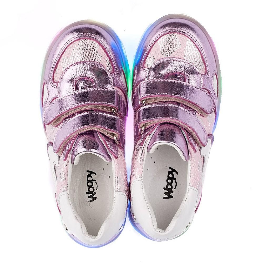 Детские кроссовки Woopy Orthopedic розовые для девочек натуральная кожа, текстиль размер 21-30 (3535) Фото 5
