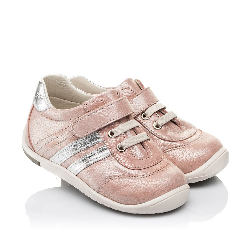 Детские кроссовки Woopy Orthopedic пудровые для девочек натуральный нубук размер 18-25 (3536) Фото 1
