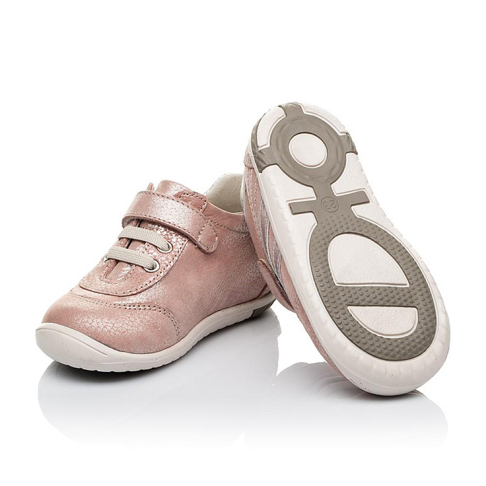 Детские кроссовки Woopy Orthopedic пудровые для девочек натуральный нубук размер 18-25 (3536) Фото 2