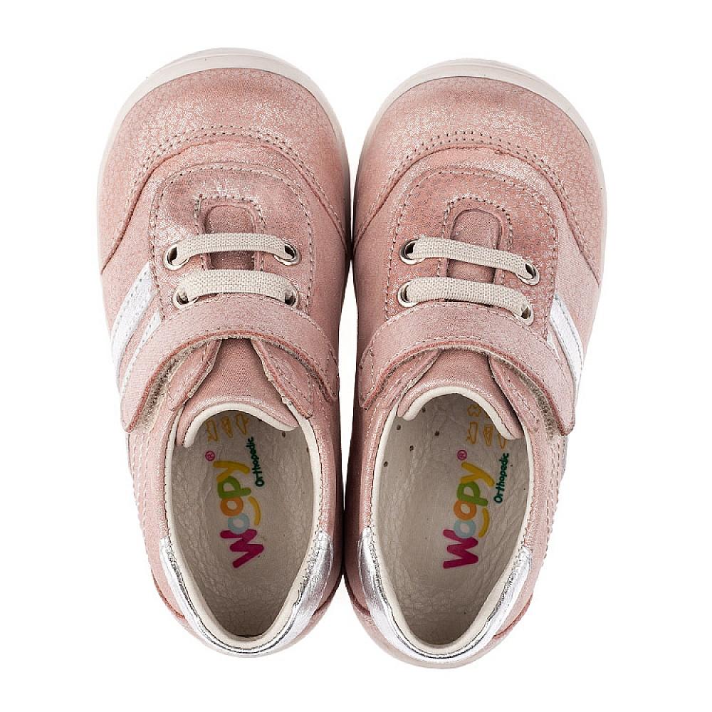Детские кроссовки Woopy Orthopedic пудровые для девочек натуральный нубук размер 18-25 (3536) Фото 5